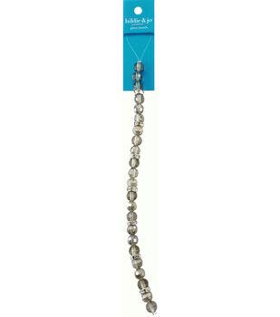 hildie & jo 7'' Round Glass Strung Beads-Gray & Silver