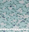 Knit Prints Rayon Spandex Fabric-Aqua White Mini Floral