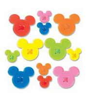 Disney Mickey Icon Adhesive Buttons, , hi-res