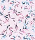 Sportswear Apparel Stretch Twill Fabric 57\u0027\u0027-Pink Multi Stems