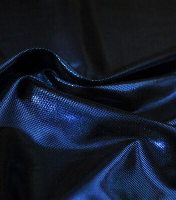 Metallic Apparel Bodre Fabric 44''-Royal Foil Dot