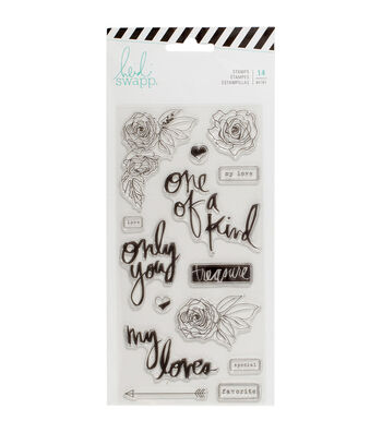 Heidi Swapp Magnolia Jane 14 pk Clear Stamps-Only You