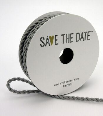 Save the Date 4mm x 15ft Cord-Light Grey