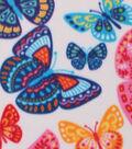 Blizzard Fleece Fabric -Summer Butterflies