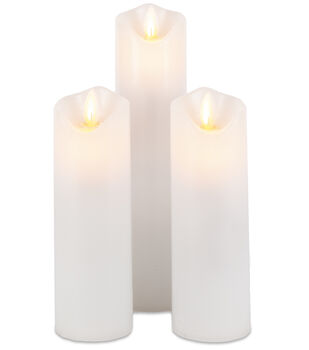 Hudson 43 3 pk 2'' Motion Flame LED Candles-White