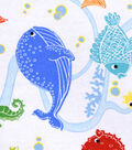 Snuggle Flannel Fabric 42\u0027\u0027-Under the Sea