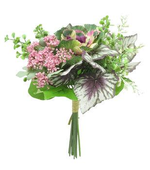 Fresh Picked Spring 11'' Cabbage Bouquet-Cream & Purple