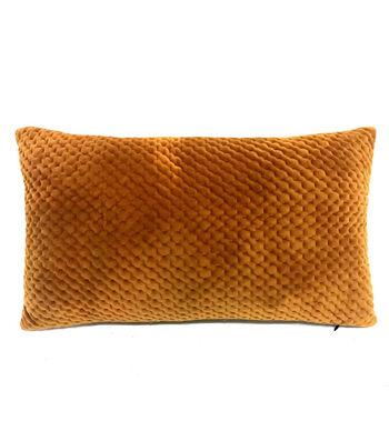 Simply Autumn Pintuck Lumbar Pillow-Orange