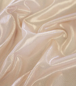 Dance Performance Ultra Sheen Foil Mesh Fabric-Blush Rose Gold