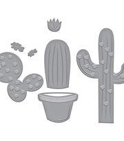 Spellbinders Indie Line Die D-Lites 6 pk Etched Dies-Potted Cacti, , hi-res
