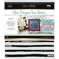 Deco Foil 4 pk 8.5\u0027\u0027x11\u0027\u0027 Clear Designer Toner Sheets-Distressed Lines