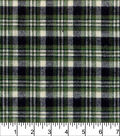 Flannel Shirting Fabric -Navy Green White