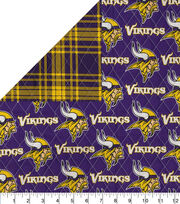Minnesota Vikings Double Faced Quilt Fabric, , hi-res