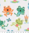 Blizzard Fleece Fabric-Fun Froggies