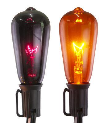 Maker's Halloween Purple & Orange Edison Bulb String Lights