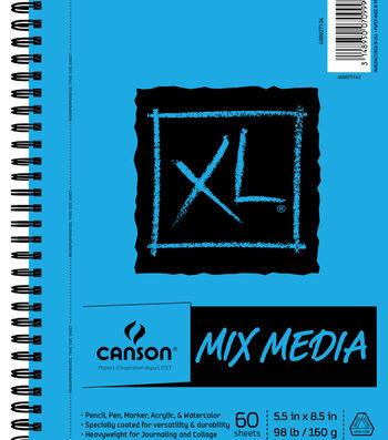 Canson XL 5.5''x8.5'' 60 Sheets Spiral Mix Media Pad