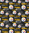 Pittsburgh Steelers Cotton Fabric-Distressed