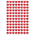 Red Hearts superShapes Stickers-Sparkle 12 Packs