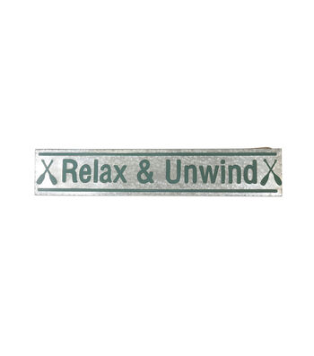 Camp Ann 10.6''x45.2'' Wall Decor-Relax & Unwind