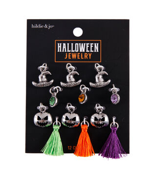 hildie & jo Halloween Jewelry 12 pk Metal Charms