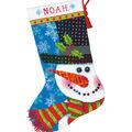 Dimensions 16\u0027\u0027 Stocking Needlepoint Kit-Patterned Snowman