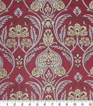 Brocade Fabric-Tawny Port Wallpaper