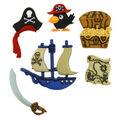 Jesse James Dress It Up Little Boy Button Embellishments-Pirates