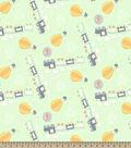 Adventure Train Print Fabric