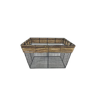 Large Square Metal Wire Basket