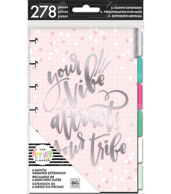 The Happy Planner 6-Month Undated Mini Planner Extension Pack-Rainbow