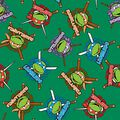 Nickelodeon Teenage Mutant Ninja Turtles Fleece Fabric -Retro
