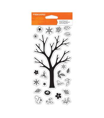 """Fiskars 4""""X8"""" Clear Stamps- Build A Tree"""