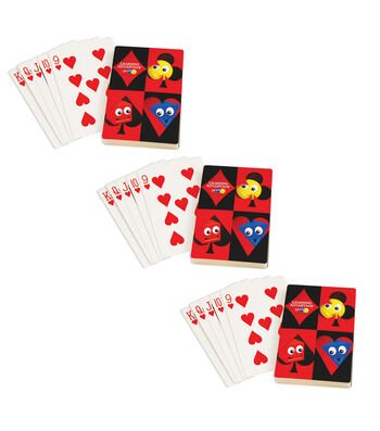 Learning Advantage Giant Playing Cards, 3 Sets