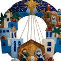 Bucilia Town Of Bethlehem Wreath Felt Applique Kit