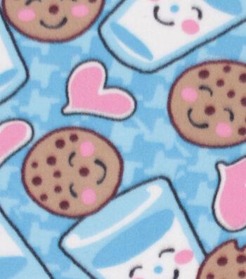"""Blizzard Fleece Fabric 59""""-Milk and Cookies"""