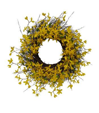 Fresh Picked Spring 29'' Forsythia & Vine Wreath