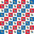 University of Kansas Jayhawks Cotton Fabric-Collegiate Check