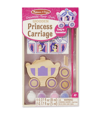Melissa & Doug Decorate-Your-Own Wooden Kit-Princess Carriage