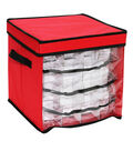 Ornament Storage Box with Clear Front Window