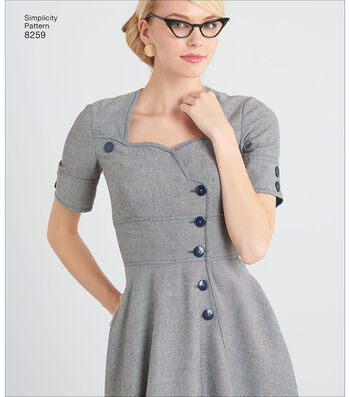 Simplicity Pattern 8259 Misses' Sew Chic Dresses-Size Y5 (18-26)