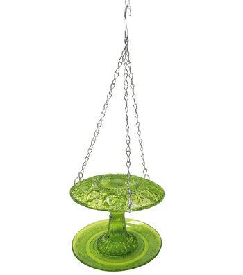 In the Garden Glass Bird Feeder-Green