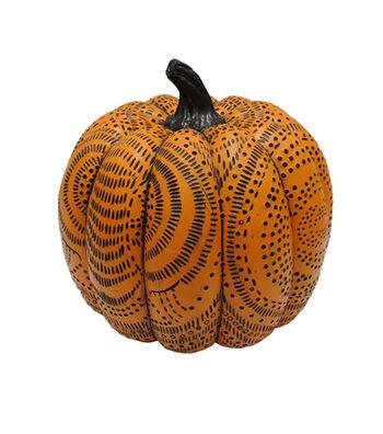 Maker's Halloween Orange Pumpkin with Design