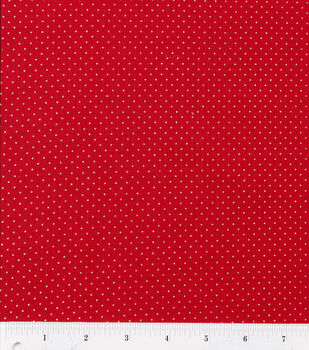 Holiday Inspirations-Red/Gold Pindot Fabric