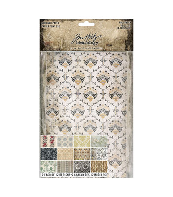 Tim Holtz Idea-ology Halloween-Worn Wallpaper