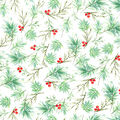 Christmas Cotton Fabric-Pine Needles & Berries