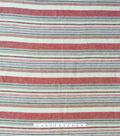 Linen Blend Fabric 56\u0022-Red Fiesta Stripe