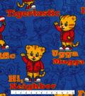 Disney Junior Daniel Tiger Fleece Fabric 58\u0027\u0027-Dark Blue