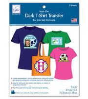 Dark T-Shirt Transfer Paper For Ink Jet Printers 3/Pkg, , hi-res
