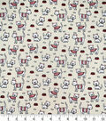 Novelty Cotton Fabric Tiny Kitties on Cream