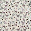 Novelty Cotton Fabric-Tiny Kitties on Cream